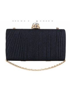 H0871A BLUE PLEATED EVENING BAG WITH GEM CLASP Please Click the image for more information.