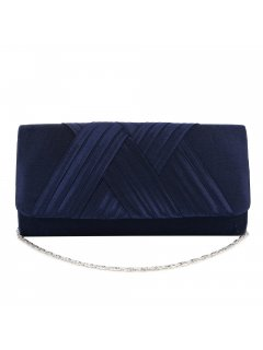 H0872D BLUE SATIN EVENING BAG WITH CROSSOVER FRONT TRIM Please Click the image for more information.