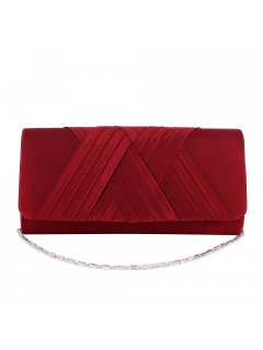 H0872C RED SATIN EVENING BAG WITH CROSSOVER FRONT TRIM Please Click the image for more information.