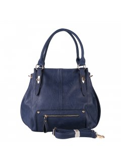 H0888B LADIES BLUE SLOUCH HANDBAGINC BOTH LONG  SHORT STRAP Please Click the image for more information.