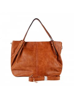 H0892A LADIES TAN HANDBAGCOMES WITH LONG  SHORT STRAP Please Click the image for more information.