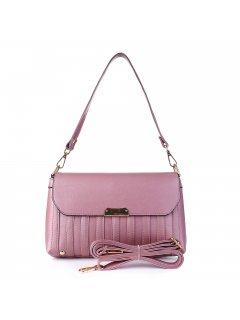H0856A LADIES PINK HANDBAGINC BOTH MID STRAP AND LONG CROSS BODY STRAP Please Click the image for more information.