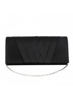 H0866 BLACK SATIN EVENING BAG Please Click the image for more information.