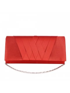 H0866D ORANGE SATIN EVENING BAG WITH CRISSCROSS PATTERN Please Click the image for more information.