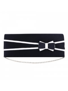 H0861C BLUE  WHITE BOW EVENING BAG Please Click the image for more information.