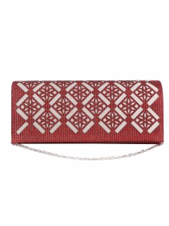 H0860C RED CUTOUT EVENING BAG Please Click the image for more information.