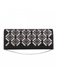 H0860 BLACK CUTOUT EVENING BAG Please Click the image for more information.