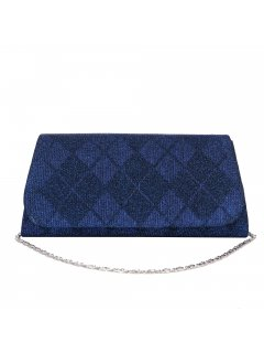 H0857A BLUE CINCHED EVENING BAG Please Click the image for more information.