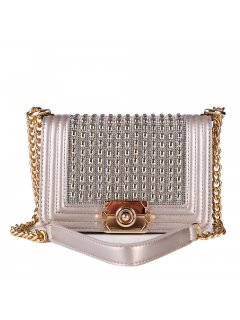 H0878A LADIES ROSE EVENING BAG WITH STUDDED FRONT Please Click the image for more information.