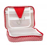 Cosmetic Box Bag /Hanger Red Dots This super stylish waterproof cosmetic bag folds our to reveal a hanger for hanging on the back of a door and 2 large compartments that fit your hair products make up travel products etc Th. Please Click the image for more information.