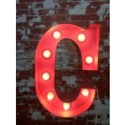 "Vintage Marquee Lights 24"" W Vintage Marquee Letter Lights come in any number letter or symbol and in a variety of colours They look great in childrens bedrooms or as an art piece for your home Gl. Please Click the image for more information."