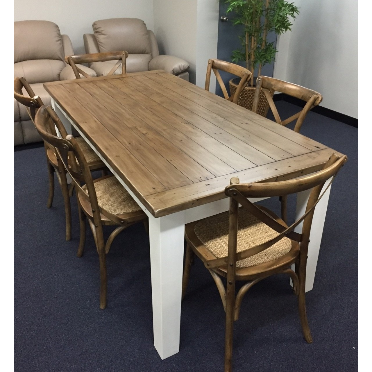 hudson hamptons style timber dining table chairs