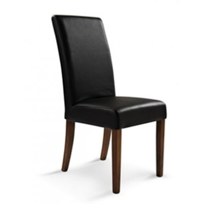chloe 100 genuine cow hide leather dining chair black toffee legs