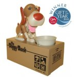 Doggy Bank Feed the hungry houndFeed him coins and he will munch them up This cute dog will much away until the coins are deposited into the bank below Known. Please Click the image for more information.