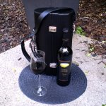 Double Wine Carrier - Faux Leather Their favourite Bordeaux or Pinot Noir deserves to be transported with panache Made of highgrade black faux leather lined with black microsuede Include. Please Click the image for more information.
