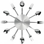 Walk Clock Fork and Spoon This is one quirky clock Made from metallic forks and spoons it is a feature for any room especially the kitchen after all it looks like it might be meal timeMakes a great house warming kitchen tea or wedding gift Also a g. Please Click the image for more information.