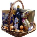Easter with Wine A perfect gift for anyone who loves their chocolate and wineBasket includesPoets Corner ShirazTrilogy Easter CasketCadbury Super Fine CasketErnest Hiller Sitting BunnyRed Tulip BunnyAssorted Gold Cadbury Eggs Please Click the image for more information.