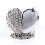 Bling Heart USB Necklace - 4GB Silver Heart Bling USB Necklace featuring a 4GB USB Flash DriveOpen up the heart and you will get a surprise Loc. Please Click the image for more information.