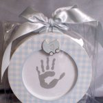 Baby Keepsake Kit If only they would stay babies forever  This kit captures the first year hand print or foot print  The kit includes an  AFrame front and back picture enclosure for two cherished imprints together with a black impression ink padPresented . Please Click the image for more information.