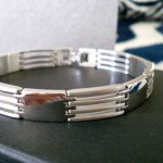 Stainless Steel Men's Bracelet With its streamlined design and minimalist materials this bracelet is both classic and contemporaryT. Please Click the image for more information.