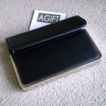 Faux Leather Business Card Holder Success is in the cards when theyre smartly presented This silver trim black faux leather businesscard case holds and protects a sizable stack of cards  It feat. Please Click the image for more information.