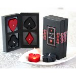 Lucky In Love - Four Suits Candle Set in Display Gift Box Show your guests how lucky you feel with this clever useful and scented favour The perfect sophisticated touch for an engagement party cocktail reception or Vegas wedding All four suits are represented in red and black and arrive in a custom showcase package with clear cellophane panels A red and. Please Click the image for more information.