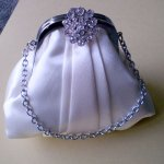 Satin Evening Bag Luxurious satin fabric with a beautiful antique silver clasp and crystal diamante detail in three fabulous colours beige silver and blackEach. Please Click the image for more information.