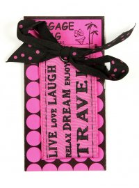 LIVE LOVE LAUGH LUGGAGE TAG PINK  Please Click the image for more information.