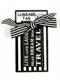 LIVE LOVE LAUGH LUGGAGE TAG BLACK  Please Click the image for more information.