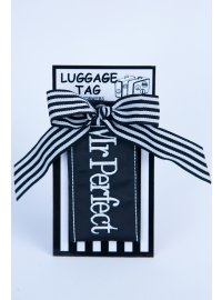 LUGGAGE TAG MR PERFECT  MR PERFECT LUGGAGE TAG BLACK AND WHTE Please Click the image for more information.