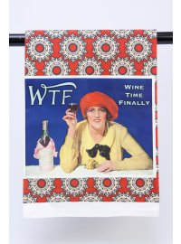 WTF -WINE TIME FINALLY TEA TOWEL TEA TOWEL WINE TIME FINALLY Please Click the image for more information.