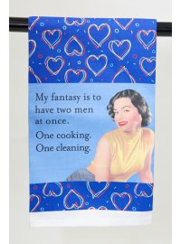 MY FANTASY IS TO HAVE TWO MEN TEA TOWEL MY FANTASY IS TO HAVE TWO MEN Please Click the image for more information.