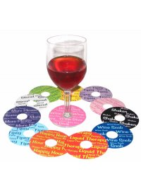 WINE STEMWARE SKIRTS STEMWARE SKIRTSBRIGHT COLOURFUL FUN DISCS THAT SIT AROUND THE STEM OF YOUR WINE OR COCKTAIL GLASSSET OF 12 ASST. Please Click the image for more information.