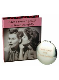 FASHION QUEEN MIRROR COMPACT GOSSIP SECRETS OF A FASHION QUEEN MIRROR COMPACTI DONT REPEAT GOSSIP SO LISTEN CAREFULLYIN RETRO PINK BOX Please Click the image for more information.