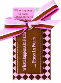 WHAT HAPPENS IN PARIS Luggage Tag pink  BrownWhat happens in Paris stays in Parissupplied on backing card Please Click the image for more information.