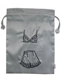 GREY SATIN LINGERIE BAG GREY BEADED SATIN LINGERIE BAG Please Click the image for more information.