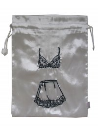 CREAM SATIN LINGERIE BAG CREAM BEADED SATIN LINGERIE BAG Please Click the image for more information.