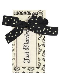 CREAM AND BLACK JUST MARRIED LUGGAGE TAG BLACK AND CREAM LUGGAGE TAG JUST MARRIED Please Click the image for more information.