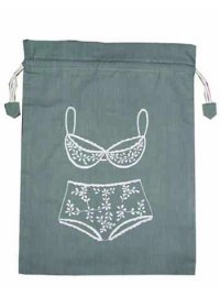 Grey lingerie bag Grey and white lingerie bag Please Click the image for more information.