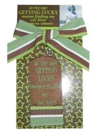 KEYRING GETTING LUCKY BROWN AND GREEN EMBROIDERED KEYRING ON DISPLAY CARDGETTING LUCKY MENS FINDING MY CAR KEYS Please Click the image for more information.