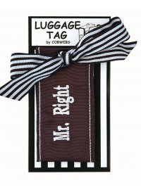 MR.RIGHT LUGGAGE TAG BLACK AND WHITE MRRIGHT LUGGAGE TAG Please Click the image for more information.