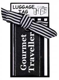 "LUGGAGE TAG ""GOURMET TRAVELLER"" BLACK AND WHITE LUGGAGE TAG GOURMET TRAVELLER Please Click the image for more information."