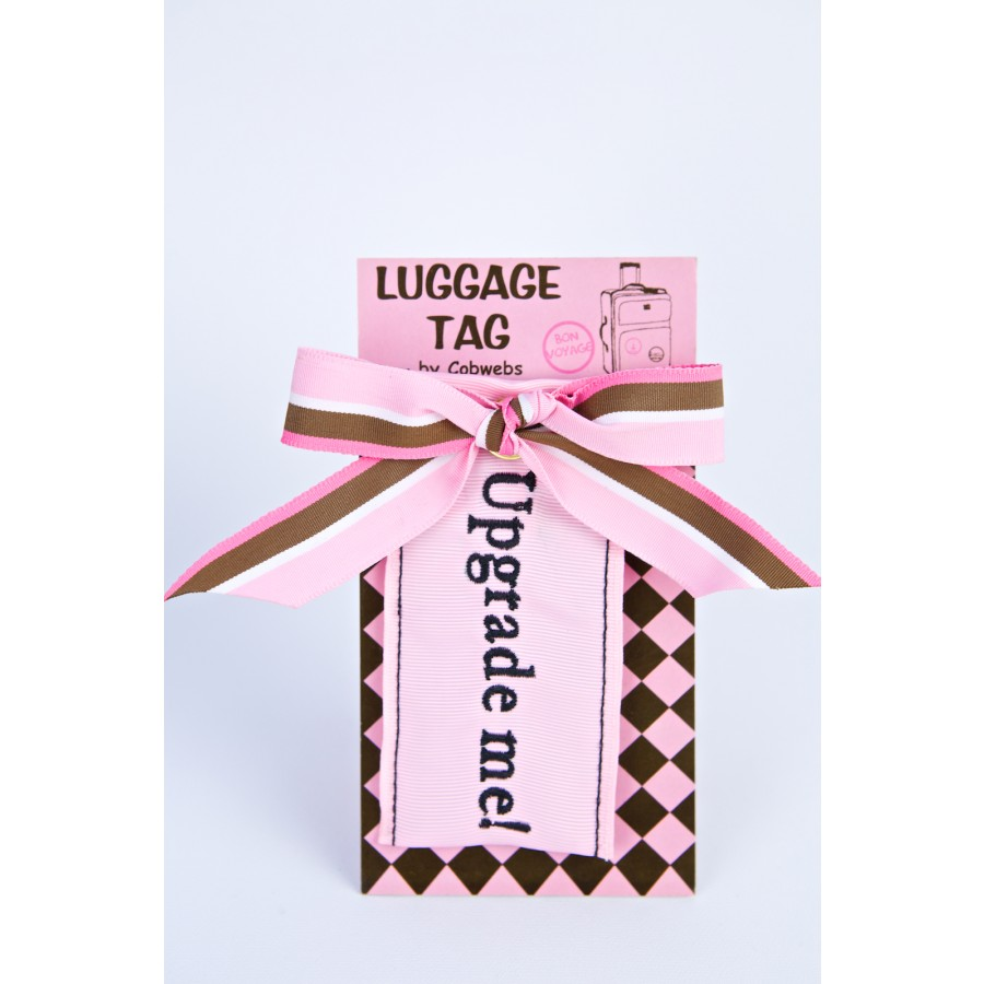LUGAGGE TAGUPGRADE ME   NEW PRODUCT FOR 2014   Cobwebs embroidered ...