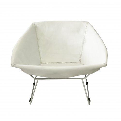 Bon Saul Chair White Leather