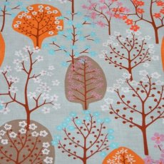 Haga Orange & Clay Haga fabric designed by Swedish designer Bitte StenstramA larger scale whimsical tree and blossom design printed on a beautiful textured cottonlinen blend Haga. Please Click the image for more information.