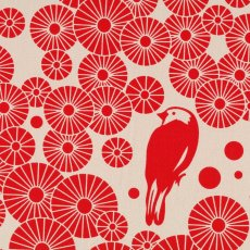Surface Art Mikko Lipstick Chino  Mikko is designed and screen printed in Australia by Moyra Jones for Surface Art This design is a contemporary modern design with a vintage twist . Please Click the image for more information.