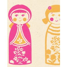 Kristen Doran Kokeshi Doll Panel Lolly Pink & Orange Kristen Dorans beautiful and sophisticated limited edition kokeshi doll design is hand screen printed in Sydney Australia on Organic GOTS certified organic hempEac. Please Click the image for more information.