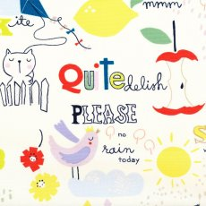 Alexander Henry Quite Delish Home Decor Alexander Henry Quite Delish is an adorable childrens home dcor fabric design featuring fun drawings of animals apples pencils and alphabet letters  script This d. Please Click the image for more information.