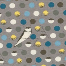 Remnant - Charley Harper Bank Swallow Blue Organic Cotton   Please Click the image for more information.