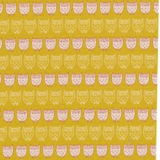 Mini Owl Mustard A lovely medium weight japanese fabric with adorable small scale owls Please Click the image for more information.